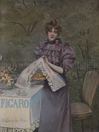 Le Gateau des Rois (The Cake of Kings). Cover of Le Figaro Illustre, January 1897.