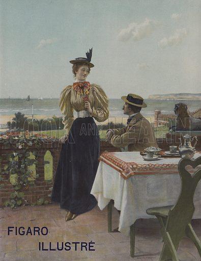 A Villers-sur-Mer. Cover of Le Figaro Illustre, July 1897.
