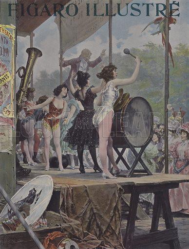 La Parade. Cover of Le Figaro Illustre, November 1897.