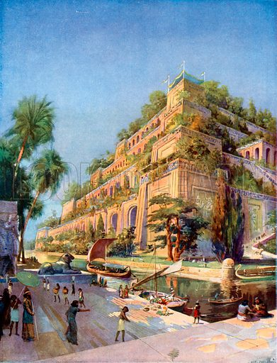 Beautiful Reconstruction of the Hanging Gardens of Babylon
