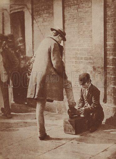 Shoeblack, London, 1870s