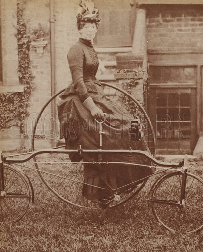 Lady on tricyle, 1888