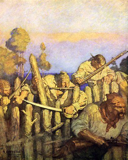 Illustration for Treasure Island by Robert Louis Stevenson (Cassell, 1911).