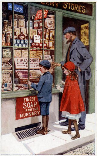 Children choosing fireworks