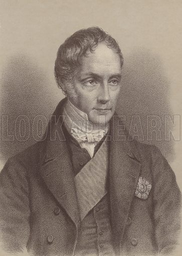 George Hamilton Gordon, 4th Earl of Aberdeen (1784–1860), British Prime Minister 1852–1855. Illustration for William Ewart Gladstone and his Contemporaries by Thomas Archer (Blackie, c 1890).
