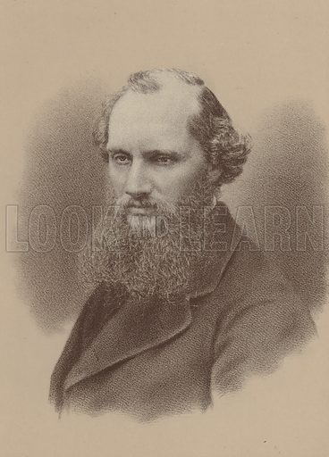Sir William Thomson (1824–1907), Professor of Natural Philosophy at the University of Glasgow. Illustration for William Ewart Gladstone and his Contemporaries by Thomas Archer (Blackie, c 1890).
