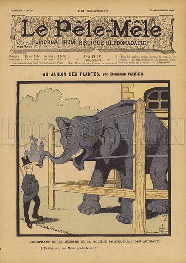 Au Jardin des Plantes. Illustration for Le Pele-Mele, 1901.