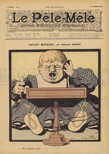 Enfant moderne. Illustration for Le Pele-Mele, 1901.