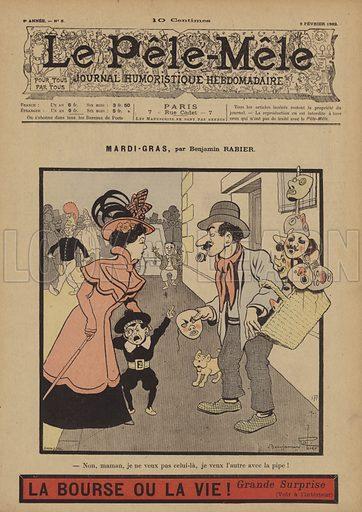 Mardi-Gras. Illustration for Le Pele-Mele, 9 February 1902.