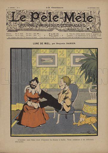 Lune de miel. Illustration for Le Pele-Mele, 1902.