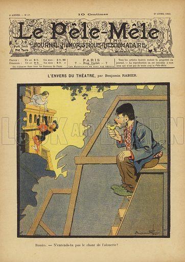 L'envers du theatre. Illustration for Le Pele-Mele, 1902.