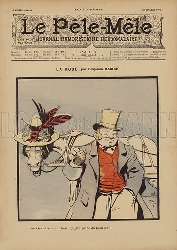 La mode. Illustration for Le Pele-Mele, 1902.