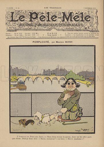 Perplexite. Illustration for Le Pele-Mele, 7 December 1902.