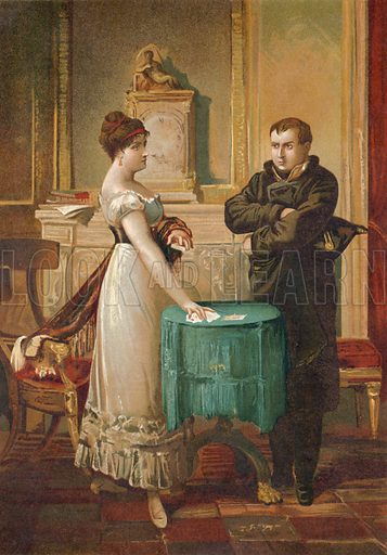 Napoleon consulting the fortune teller Marie Anne Lenormand