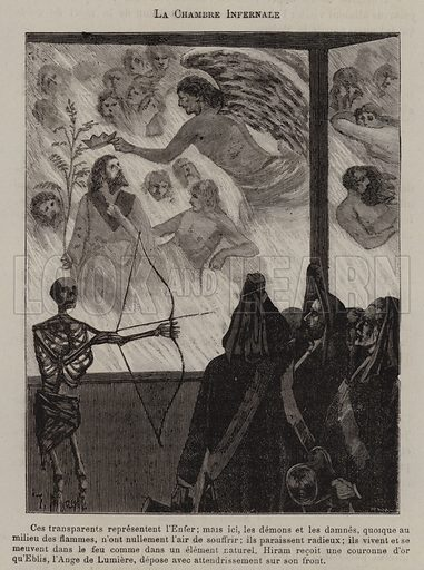 The Infernal Chamber. Illustration for Les Mysteres de la Franc-Maçonnerie Devoiles (The Mysteries of Freemasonry Revealed) by Leo Taxil (Letouzzy et Ane, c 1885).