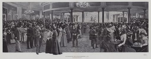The Folies Bergere, Paris, at 11.17. Illustration from an unidentified album, c 1900.