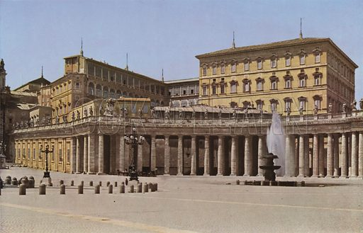 The Vatican. Il Vaticano. Illustration for Roma Sacra (Uvachrom, 1925). Photographs by Ludwig Preiss.