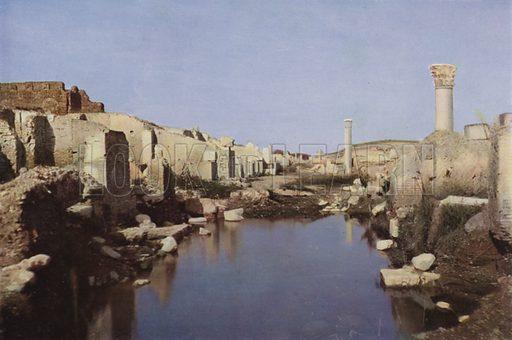 Ostia. Illustration for Roma Sacra (Uvachrom, 1925). Photographs by Ludwig Preiss.