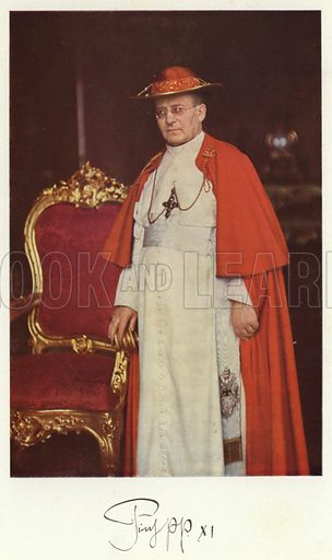 Pope Pius XI. Illustration for Roma Sacra (Uvachrom, 1925). Photographs by Ludwig Preiss.