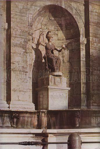 Roma Triumphant. Roma Trionfante. Illustration for Roma Sacra (Uvachrom, 1925). Photographs by Ludwig Preiss.