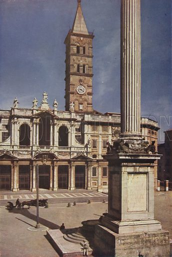 S Maria Maggiore. Illustration for Roma Sacra (Uvachrom, 1925). Photographs by Ludwig Preiss.