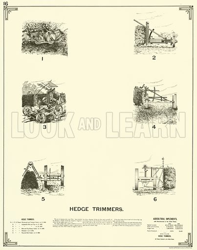 Hedge Trimmers. Illustration for The Growth of Industrial Art arranged and compiled under the supervision of Benjamin Butterworth (Washington, Government Printing Office, 1892).  Scanned from later edition.