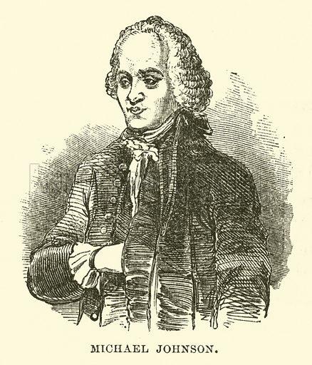 Michael Johnson. Illustration for The Life of Samuel Johnson by James Boswell (Routledge, 1859).