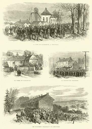L'Emeute des Mineurs a Westwood, pres de Sheffield, Angleterrre. Illustration for L'Univers Illustre, 12 February 1870.