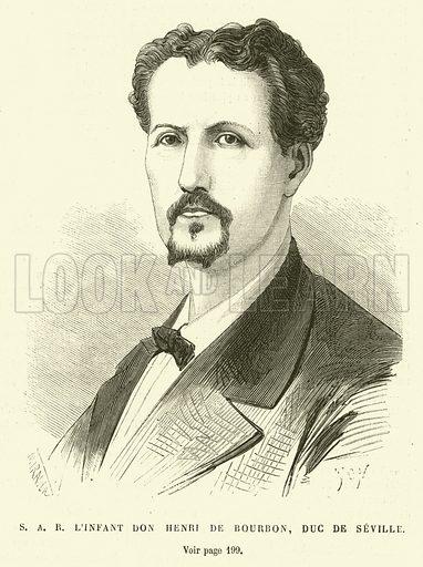SARL'Infant Don Henri de Bourbon, Duc de Seville. Illustration for L'Univers Illustre, 26 March 1870.