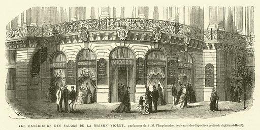 Vue Exterieure des Salons de la Maison Violet, parfumeur de SM I'Imperatrice, boulevard des Capucines, rotonde du …