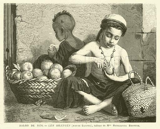 Salon de 1870, Les Oranges, haute Egypte. Illustration for L'Univers Illustre, 9 July 1870.