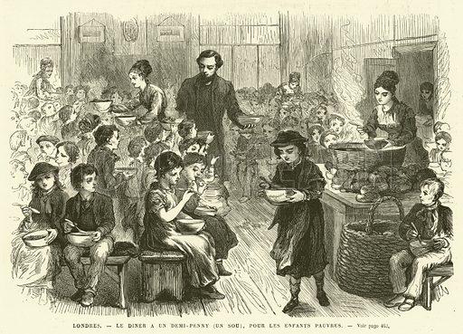 Londres, Le Diner a un Demi-Penny, un sou, pour les Enfants Pauvres