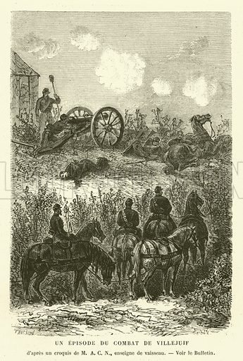 Un Episode du Combat de Villejuif. Illustration for L'Univers Illustre, 8 October 1870.