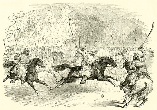 The Game of Polo. Illustration for Chatterbox (1868).