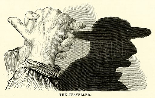 The Traveller. Illustration for Chatterbox (1869).