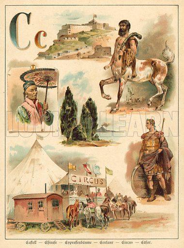 Letter C. Illustration from Welt-ABC(Gustav Weise, Stuttgart, c1894).
