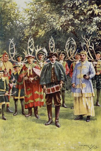 The traditional horn dancers of Abbot's Bromley, Staffordshire