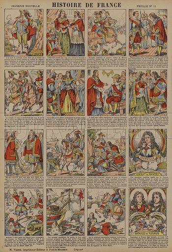 History of France from the death of Louis XIII to the Battle of Fleurus. Illustration from Histoire de France depuis les temps les plus recules jusqu'a nos jours by Jules Pacher (Marcel Vagne, Pont-a Mousson, c1901).