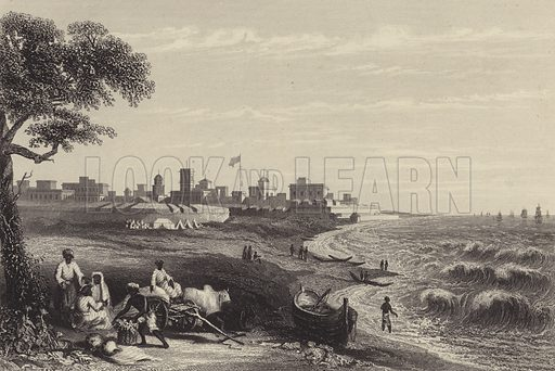 Fort George, Madras. Illustration from The History of the Indian Mutiny by Charles Ball (The London Publishing and Printing Company Limited, London and New York, c1858).