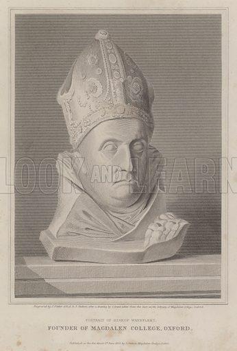 Portrait of Bishop Waynflete, founder of Magdalen College, Oxford