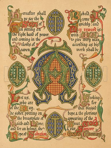 Advent. Illustration from A Sequence of Symbols for the Chief Festivals and Seasons of the Church.