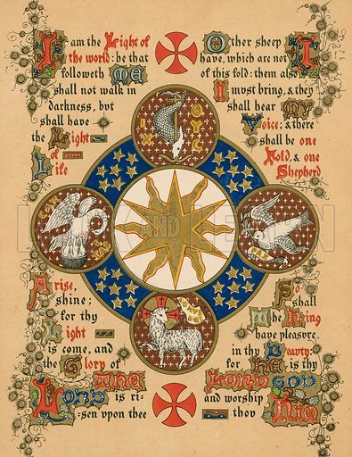 Epiphany. Illustration from A Sequence of Symbols for the Chief Festivals and Seasons of the Church.