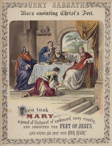 Mary Magdalene drying Christ's feet