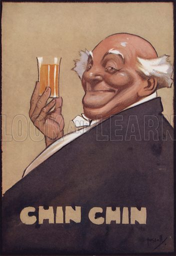 Chin Chin. Illustration from The Stock Exchange Christmas Annual 1913-1914 (Gale & Golden Limited, London, Aldershot and Portsmouth, 1913).