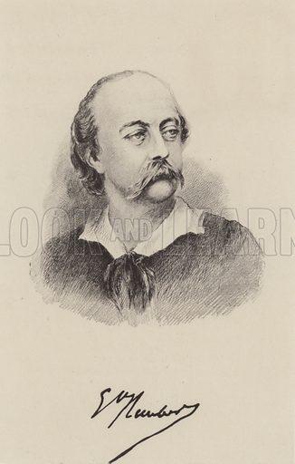 Gustave Flaubert (1821–1880), French novelist. Illustration from Madame Bovary by Gustave Flaubert (William Heinemann, London, 1902).