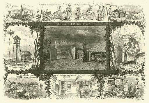 Russia. Illustration from Album du Grand Journal (Imprimerie Auguste Vallee, Paris, 1864).