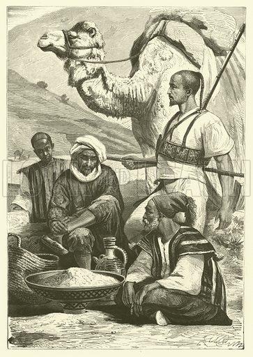 The pirates of the Rif, Morocco. Illustration from Album du Grand Journal (Imprimerie Auguste Vallee, Paris, 1864).
