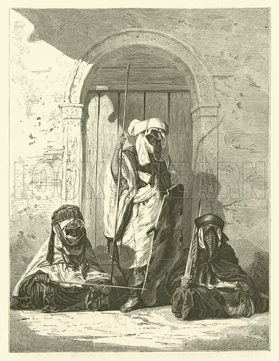 Tuareg chiefs. Illustration from Album du Grand Journal (Imprimerie Auguste Vallee, Paris, 1864).