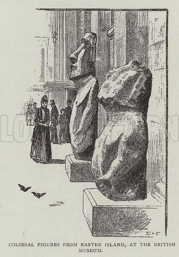 Colossal Figures from Easter Island, at the British Museum