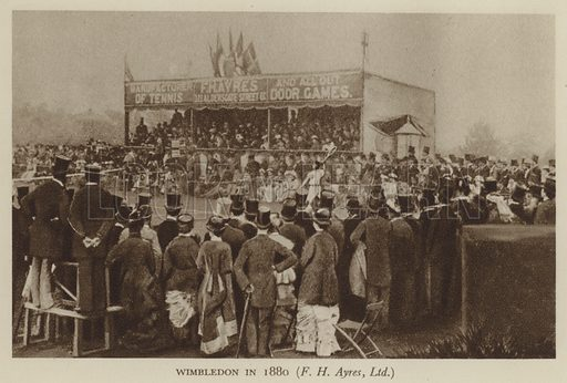 Wimbledon in 1880, F H Ayres, Limited stock image | Look and Learn